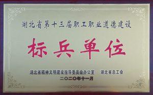 湖北省第十三届职工职业道德建设标兵单位